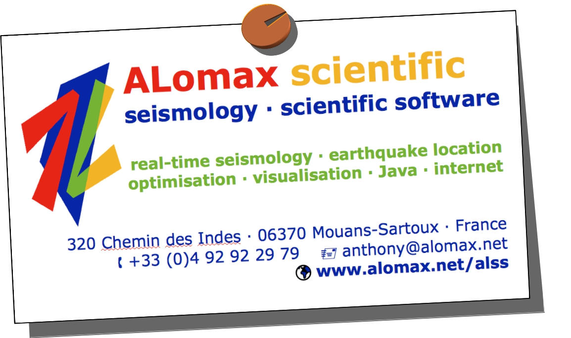To: Anthony Lomax Scientific Software - Home Page